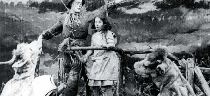 Still from the 1910 Wonderful Wizard of Oz. Via the Academy of Motion Picture Arts and Sciences.