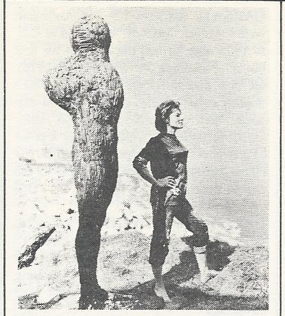 InThese Are theDamned, Swedish actress Viveca Lindfors plays a sculptor who lives on a cliff overlooking the ocean. Her haunting sculptures form only part of the strange mise-en-scène of this wonderfully weird movie.