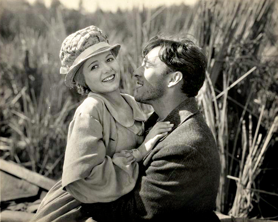 Janet Gaynor and George O'Brien in a publicity still from Sunrise