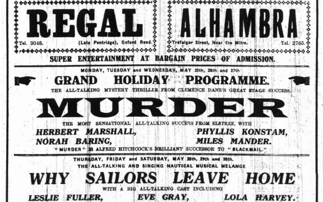 Murder! (1930) Directed by Alfred Hitchcock.